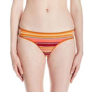 RVCA Rio Red Striped Bikini Bottom NWT